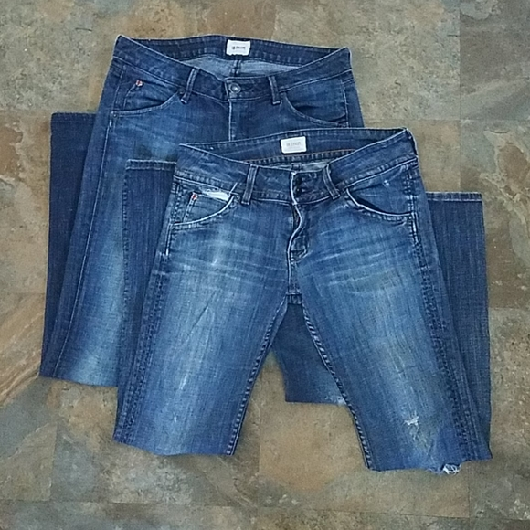 Two Hudson Distressed Jeans Size 28